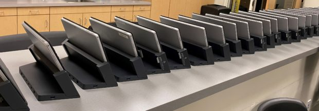 Laptops donated by Simplot to the Idaho Business for Education Community Activation Project. Photo courtesy IBE.